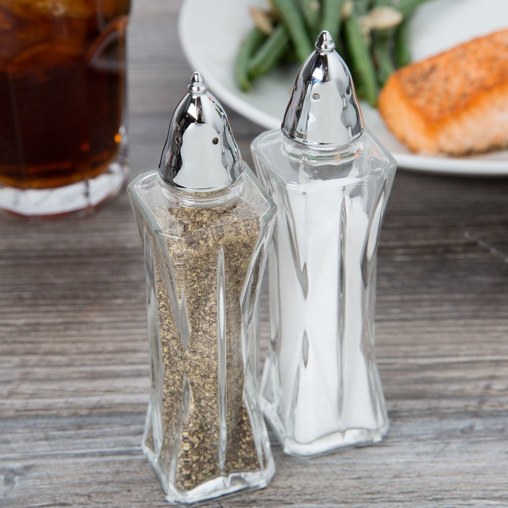 libbey 75301 2 25 oz  summit salt    pepper shaker  pack