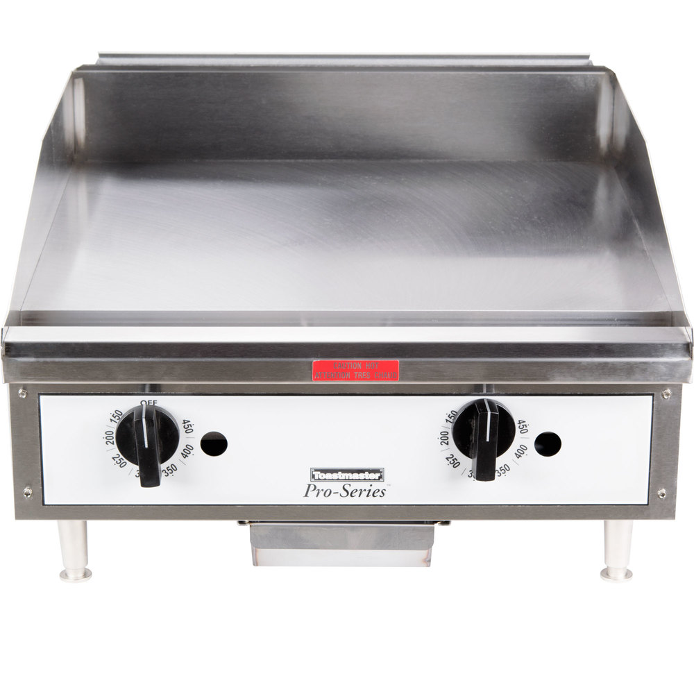"Toastmaster TMGT24 24"" Gas Countertop Griddle - Thermostatic Controls"