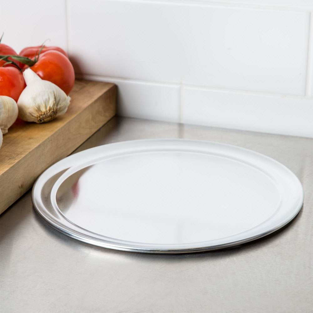 "12"" Aluminum Pizza Tray with Rim"