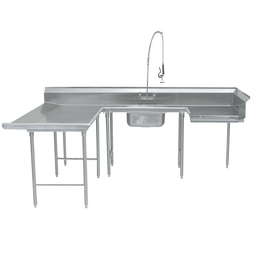 "Advance Tabco DTS-U30-120 120"" U Shape Soil Dishtable"