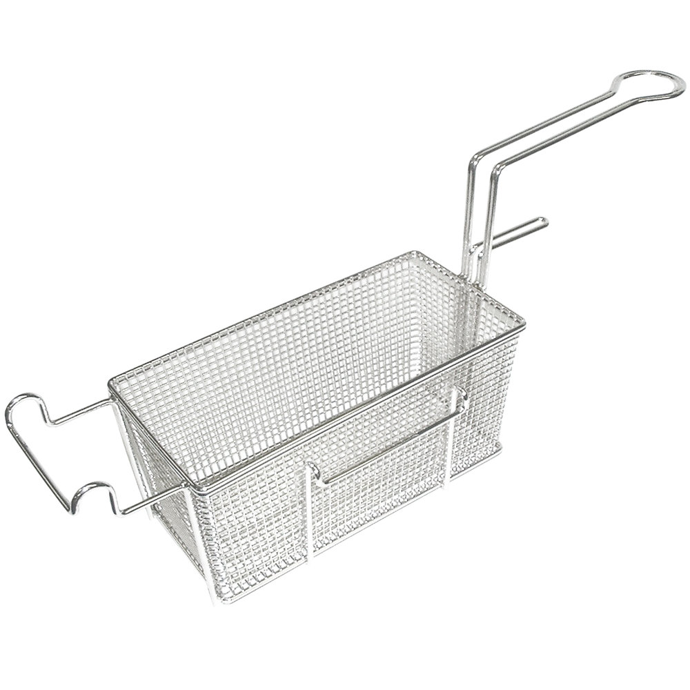 "Bakers Pride 300189 13"" x 6"" x 5 1/2"" Fryer Basket with Front Hook"