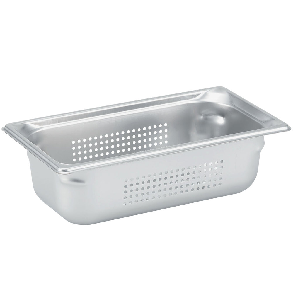 "Vollrath 90323 Super Pan 3® 1/3 Size Anti-Jam Stainless Steel Perforated Steam Table Pan - 2 1/2"" Deep"
