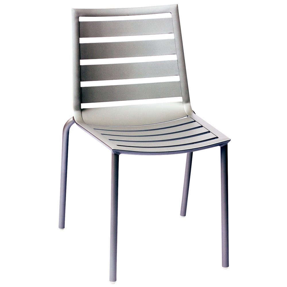 Aluminum stacking outdoor chairs -  Outdoor Indoor Stackable Aluminum Side Chair Main Picture
