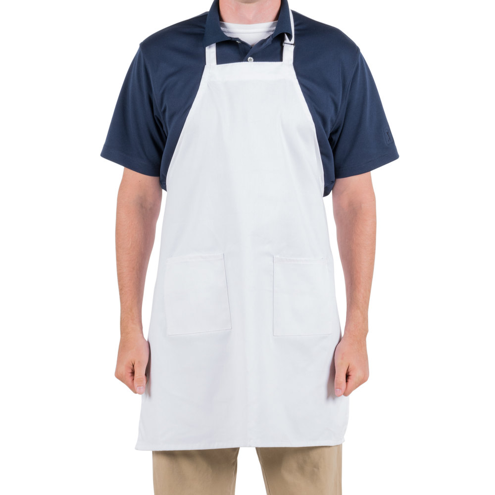 "White Kitchen Apron choice white 4-way waist apron - 17"" x 36"""