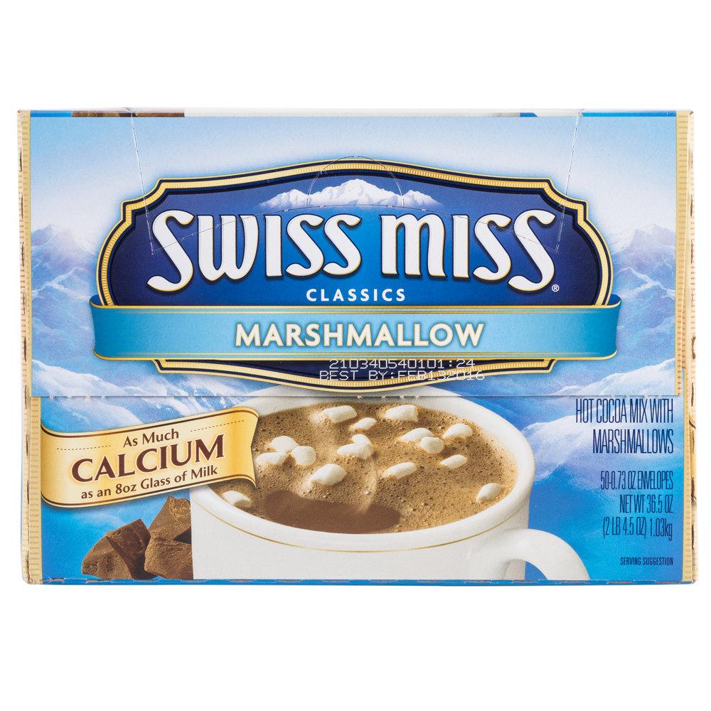 Swiss Miss Hot Chocolate Mix with Marshmallows - 50/Box