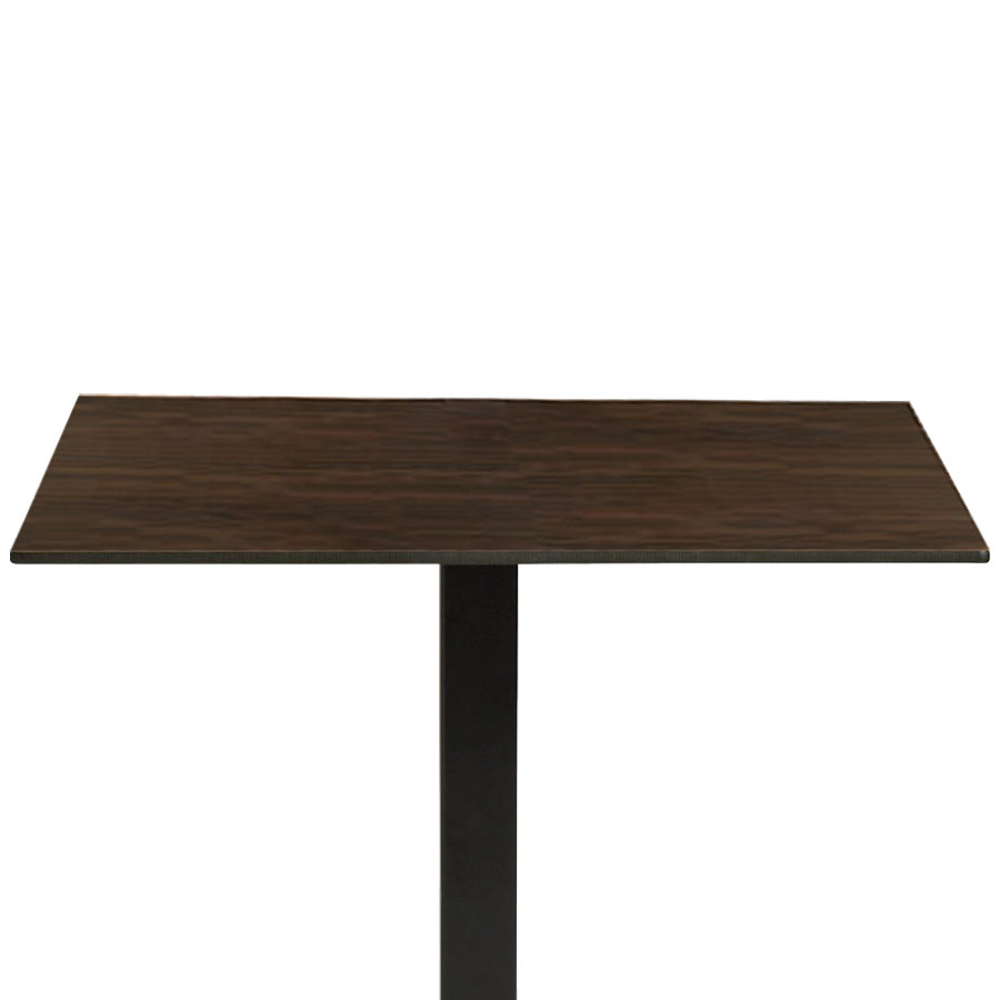 "Grosfillex US63HP91 Indoor HPL 36"" x 36"" Tabletop - Wenge"