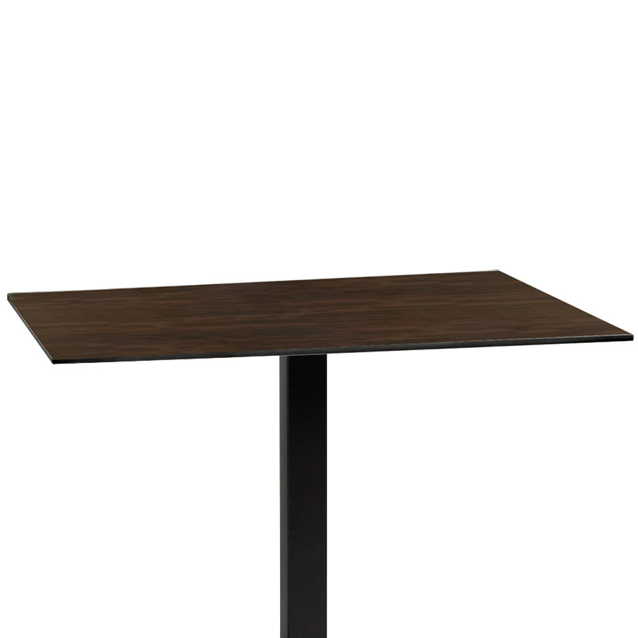 "Grosfillex US42HP91 Indoor HPL 30"" x 42"" Wenge Tabletop"