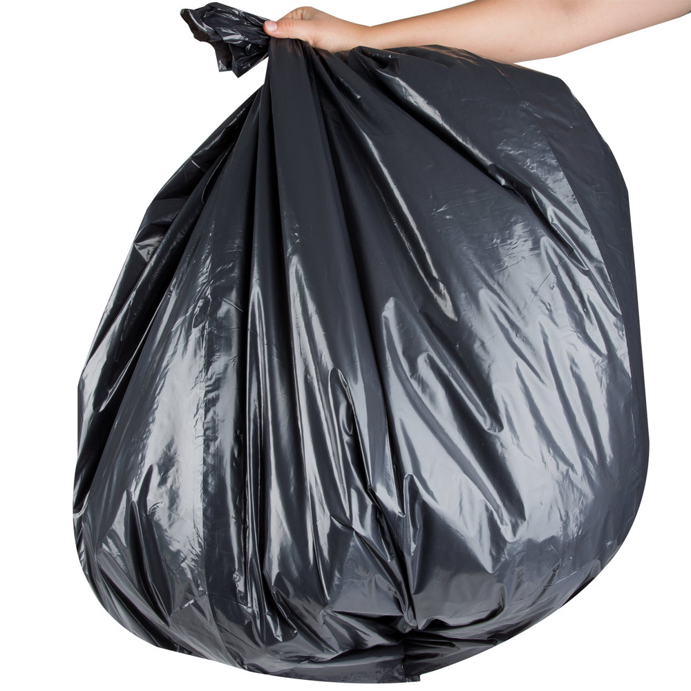 "AEP 404648G 45 Gallon 1.9 Mil 40"" x 46"" Low Density Can Liner / Trash Bag - 100/Case"