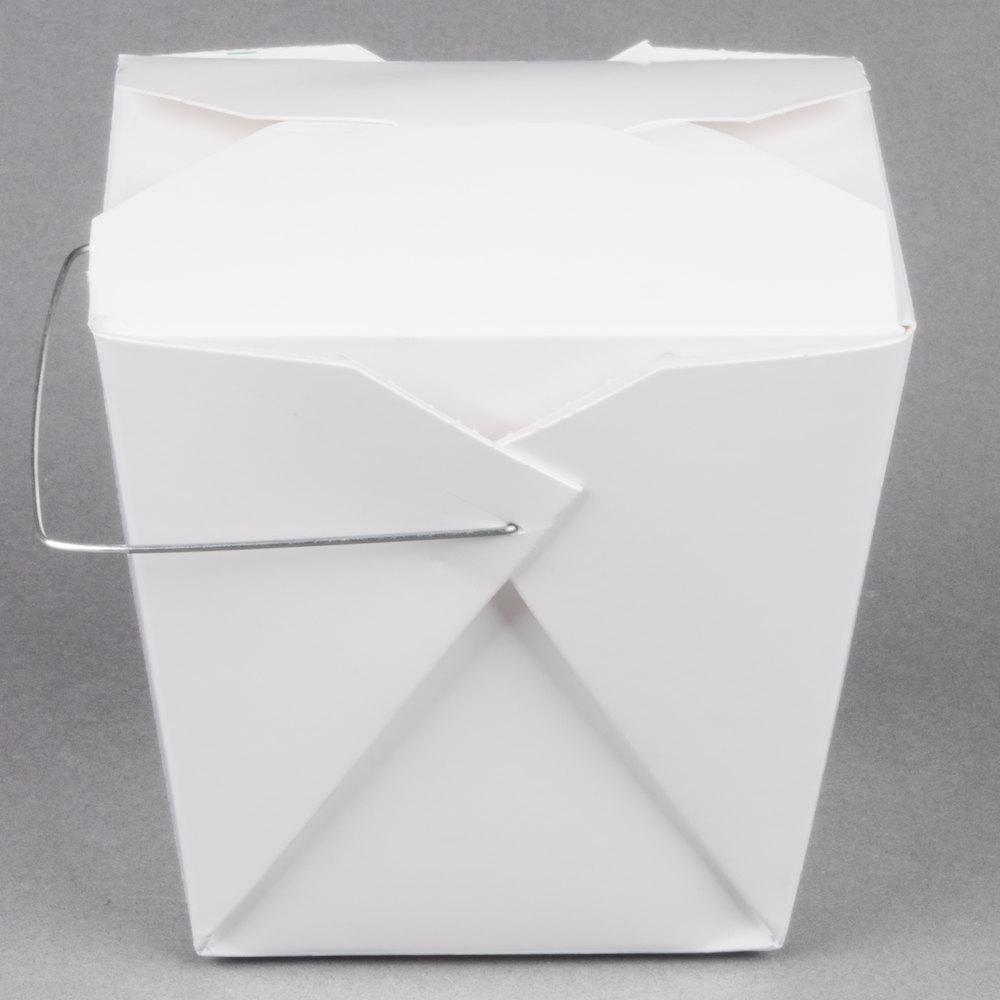 Fold-Pak 32WHWHITEM 32 oz. White Chinese / Asian Paper Take-Out ...