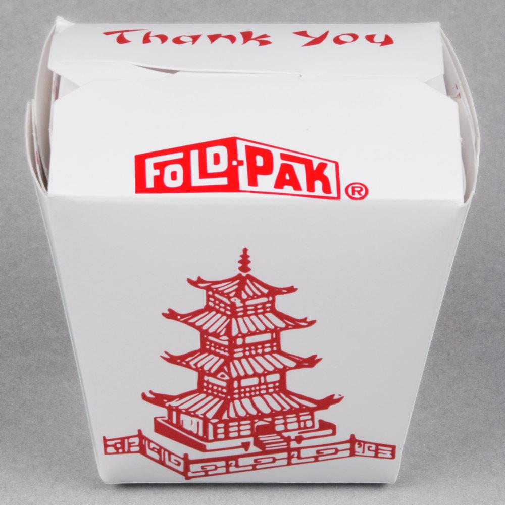 Fold-Pak 08MWPAGODM 8 oz. Pagoda Chinese / Asian Microwavable Paper ...