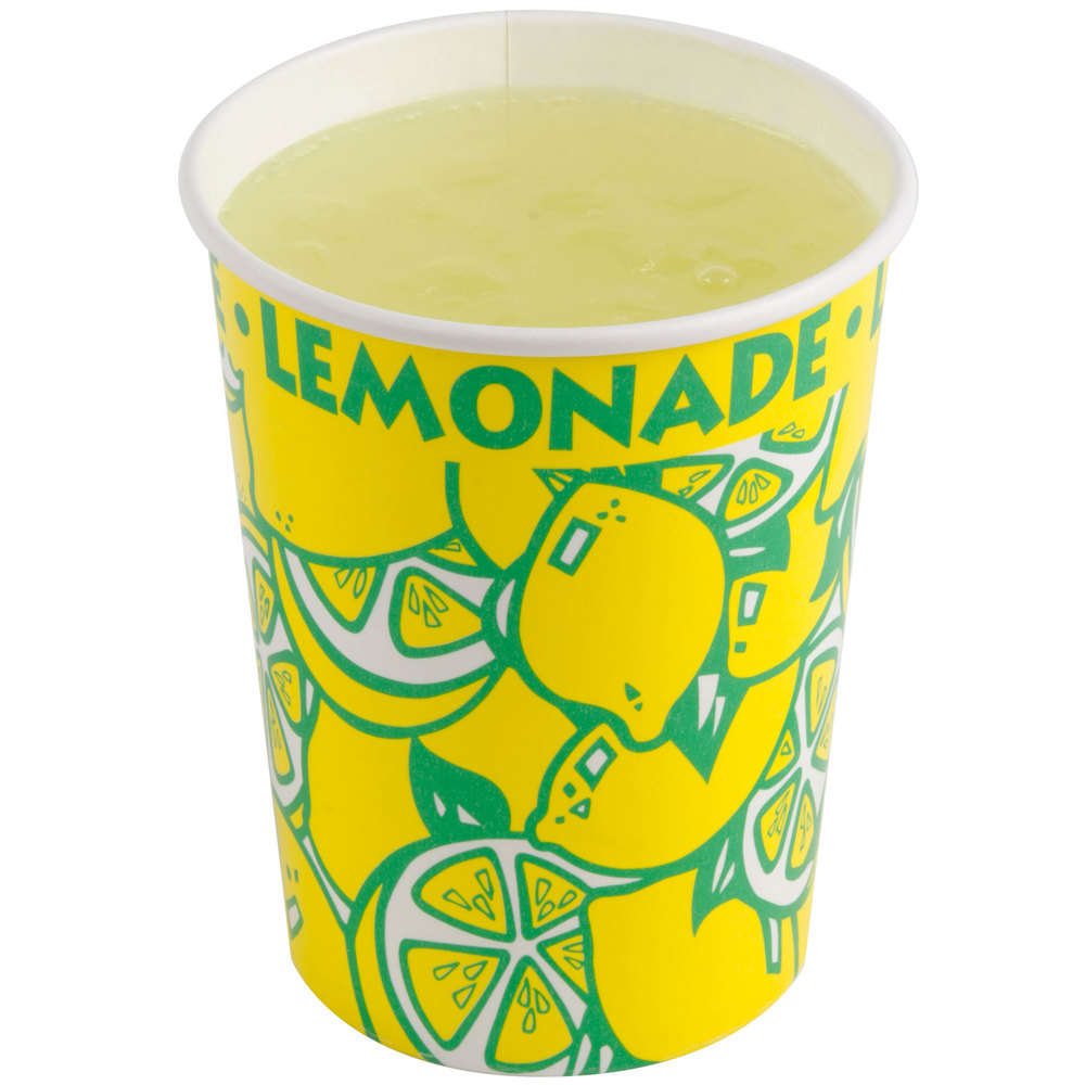 32 oz. Squat Paper Lemonade Cup - 480/Case