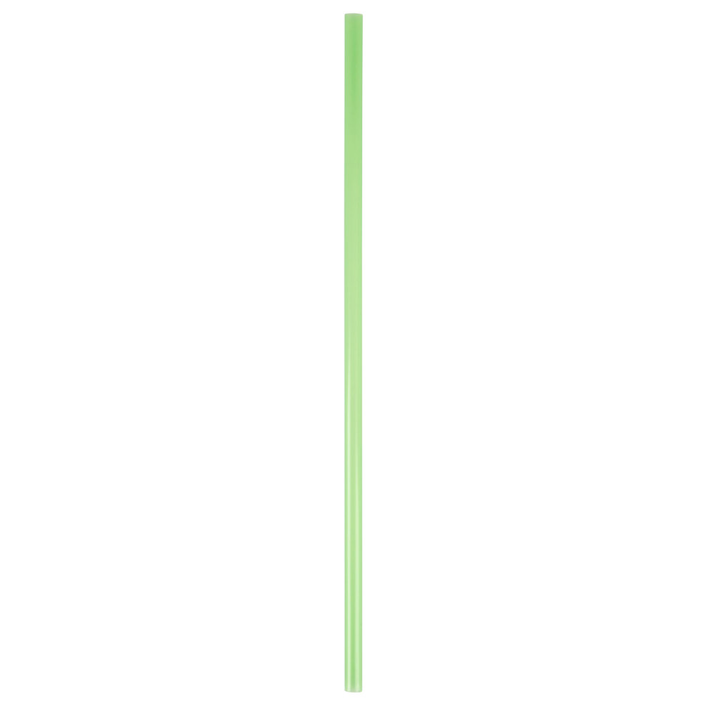 "10"" Green Unwrapped Straw"