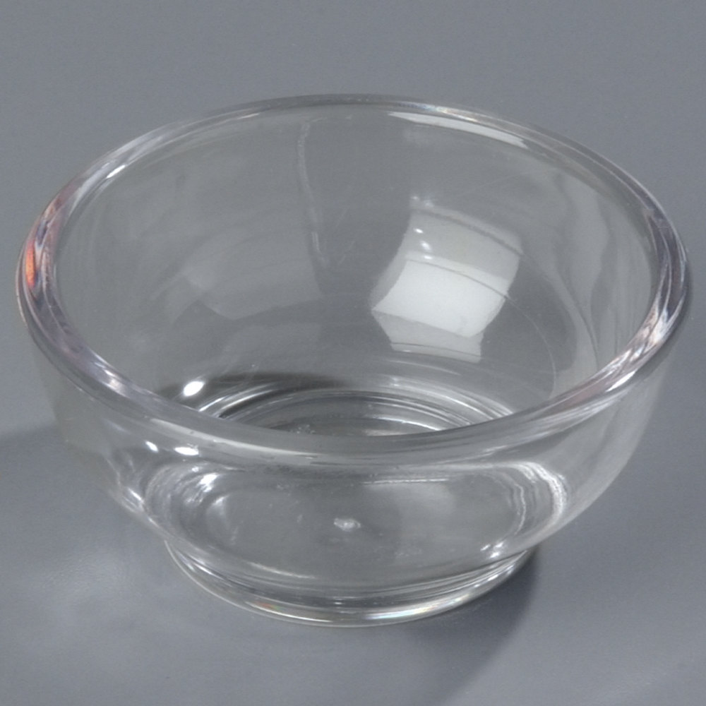 Carlisle 083107 2.5 oz. Clear Round Plastic Souffle Cup - 144/Case