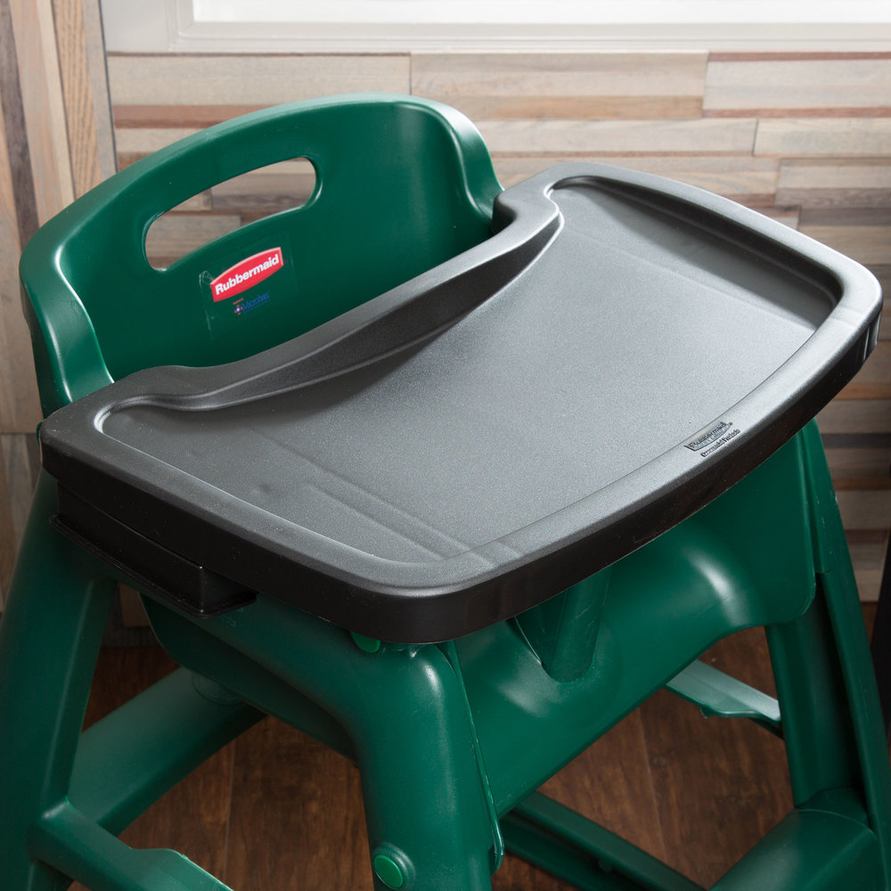 Rubbermaid FG781588BLA Black Restaurant High Chair Tray