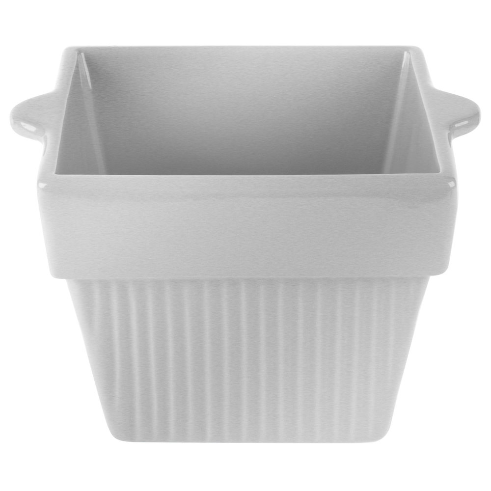 Tablecraft CW1460N 1.5 Qt. Natural Cast Aluminum Square Condiment Bowl