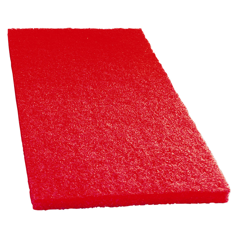 "Scrubble by ACS 51-14x20 14"" x 20"" Red Buffing Floor Pad - Type 51 - 5 / Case"