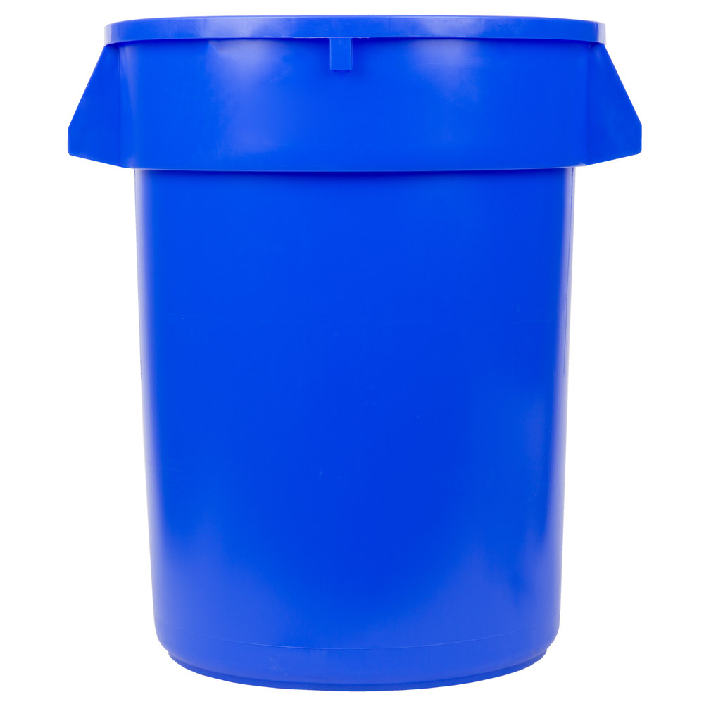 Continental 3200bl Huskee 32 Gallon Blue Trash Can
