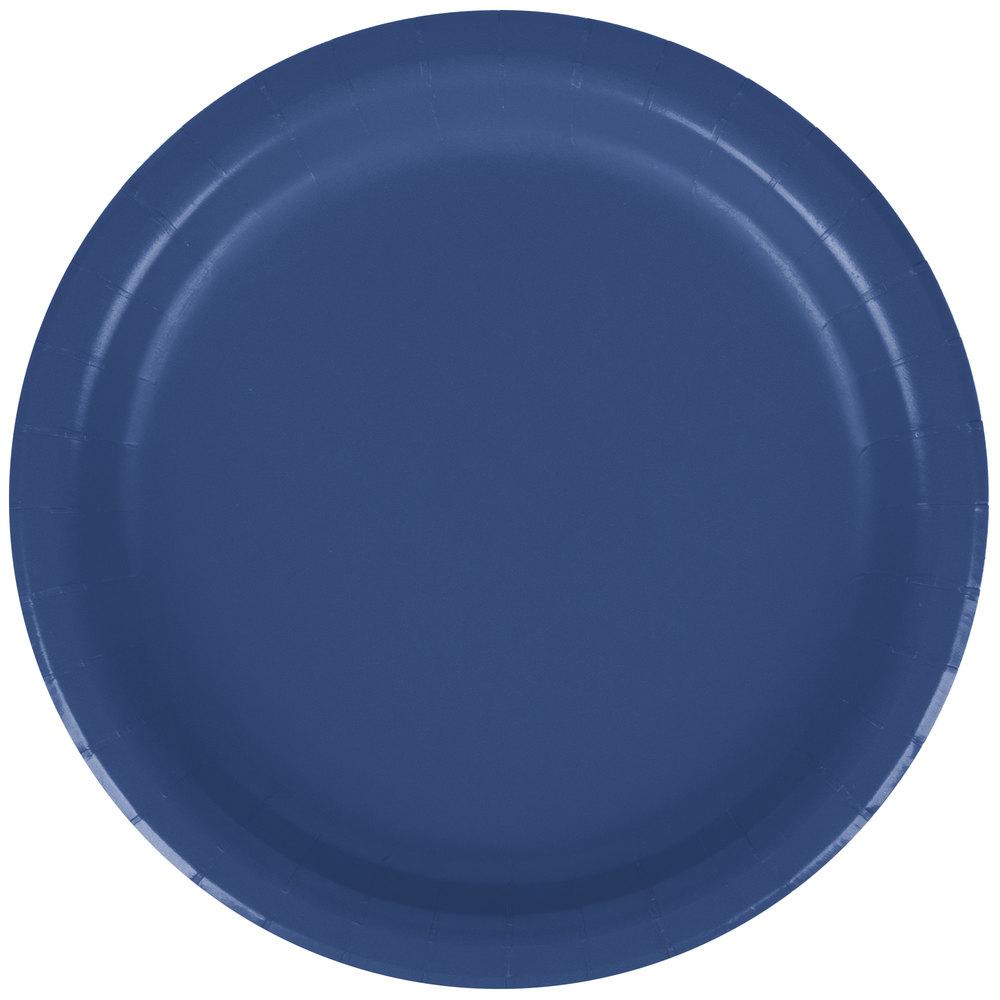 creative converting 791137b 7 navy blue paper plate 240 case. Black Bedroom Furniture Sets. Home Design Ideas