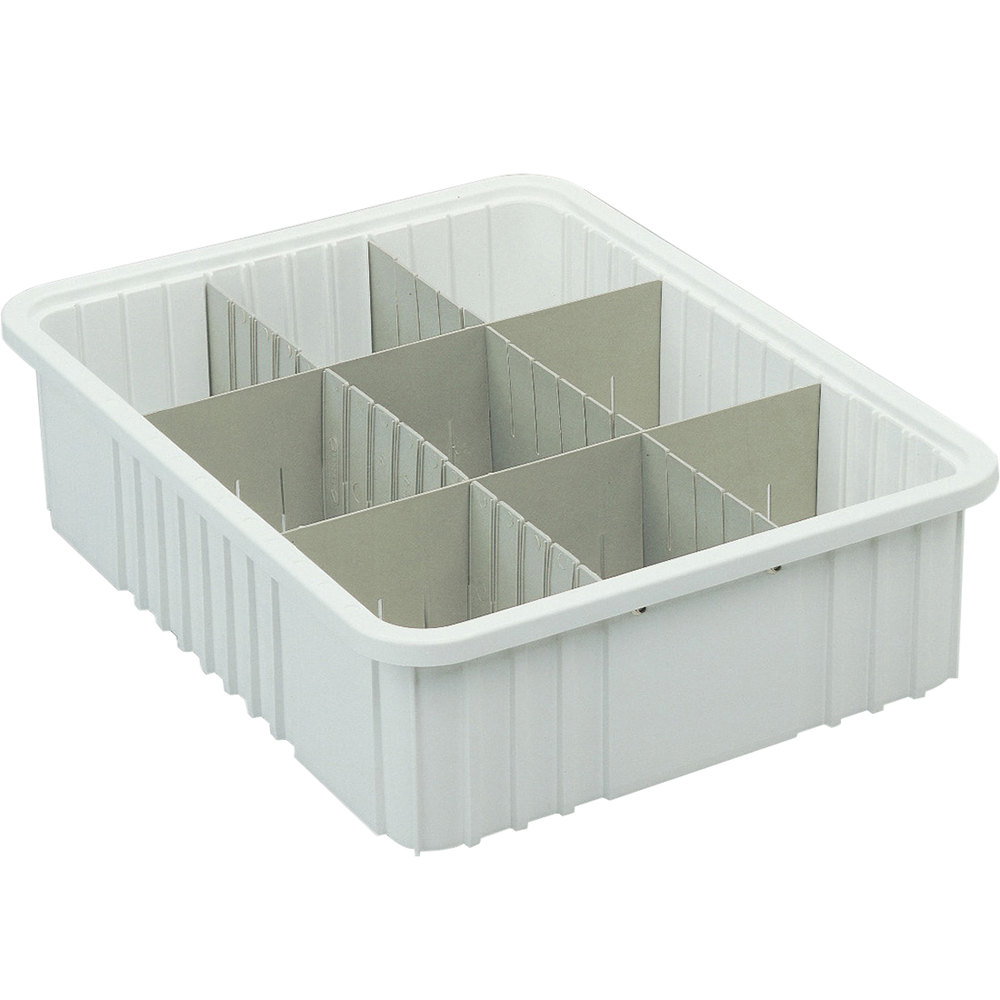 "Short Metro MDS93060N Gray Tote Box Divider - 18"" x 6"""