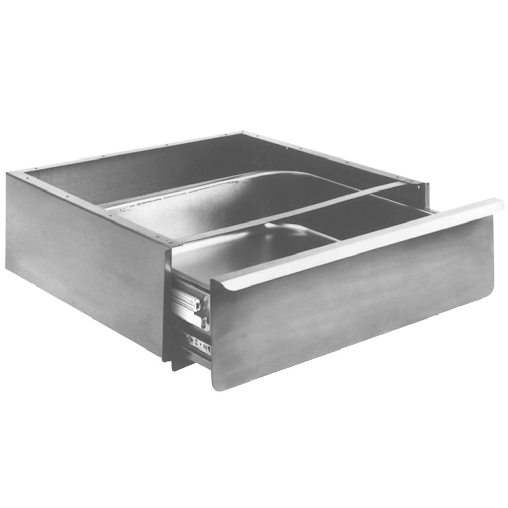 """Coffee Table With Fridge Drawer: Eagle Group 502946 Stainless Steel 20"""" X 20"""" X 5"""" Enclosed"""