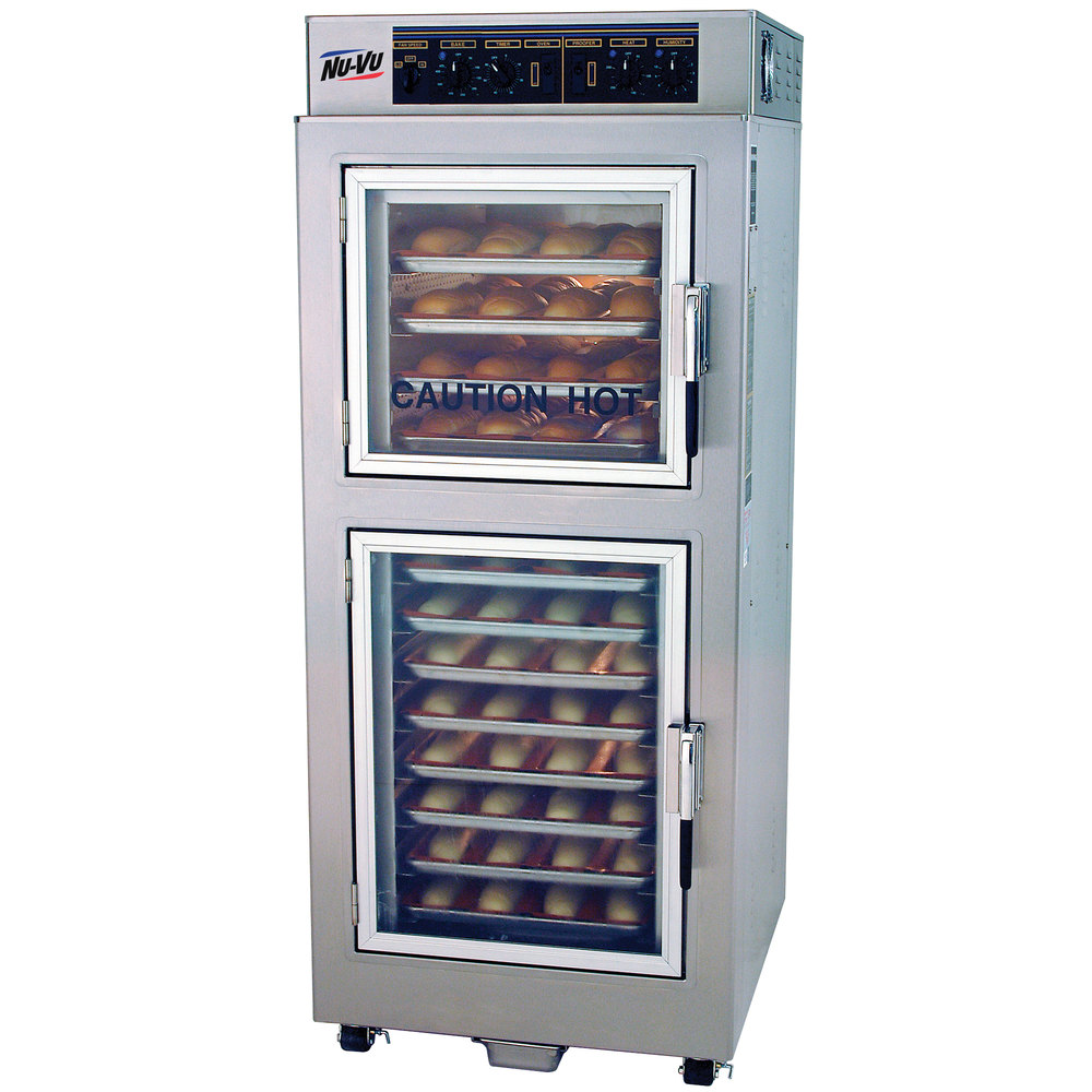 NU-VU UB-E4/8 Double Deck Electric Oven Proofer Combo - 240V, 1 Phase, 7.9 kW