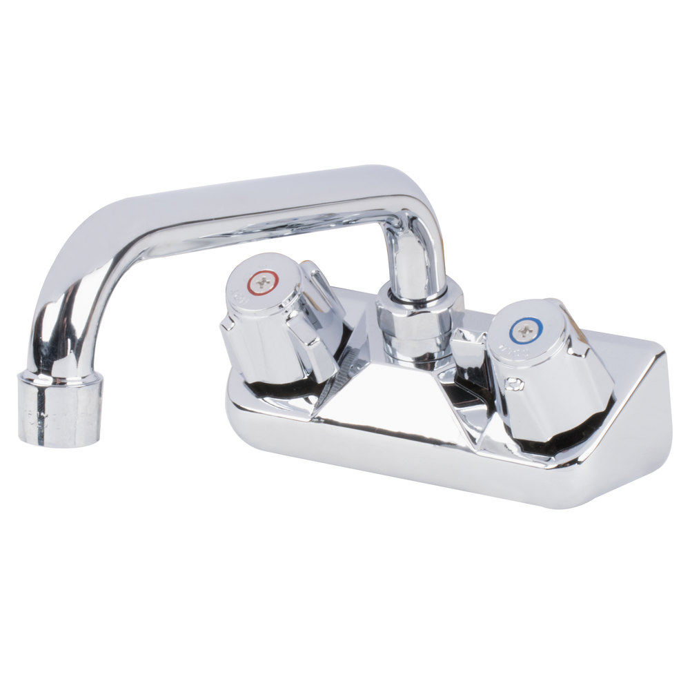 "Regency Low Lead Wall Mount Bar Sink Faucet with 4"" Centers and 8"" Swing Spout"