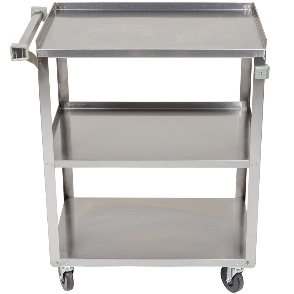 Stainless Steel 3 Shelf Utility Cart 27 1 2 Quot X 15 1 2 Quot X 33 Quot