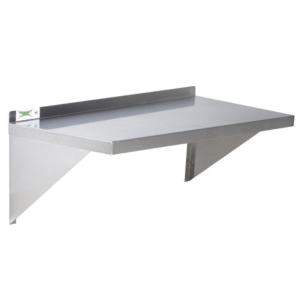 regency 16 gauge stainless steel 18 x 24 heavy duty wall shelf. Black Bedroom Furniture Sets. Home Design Ideas