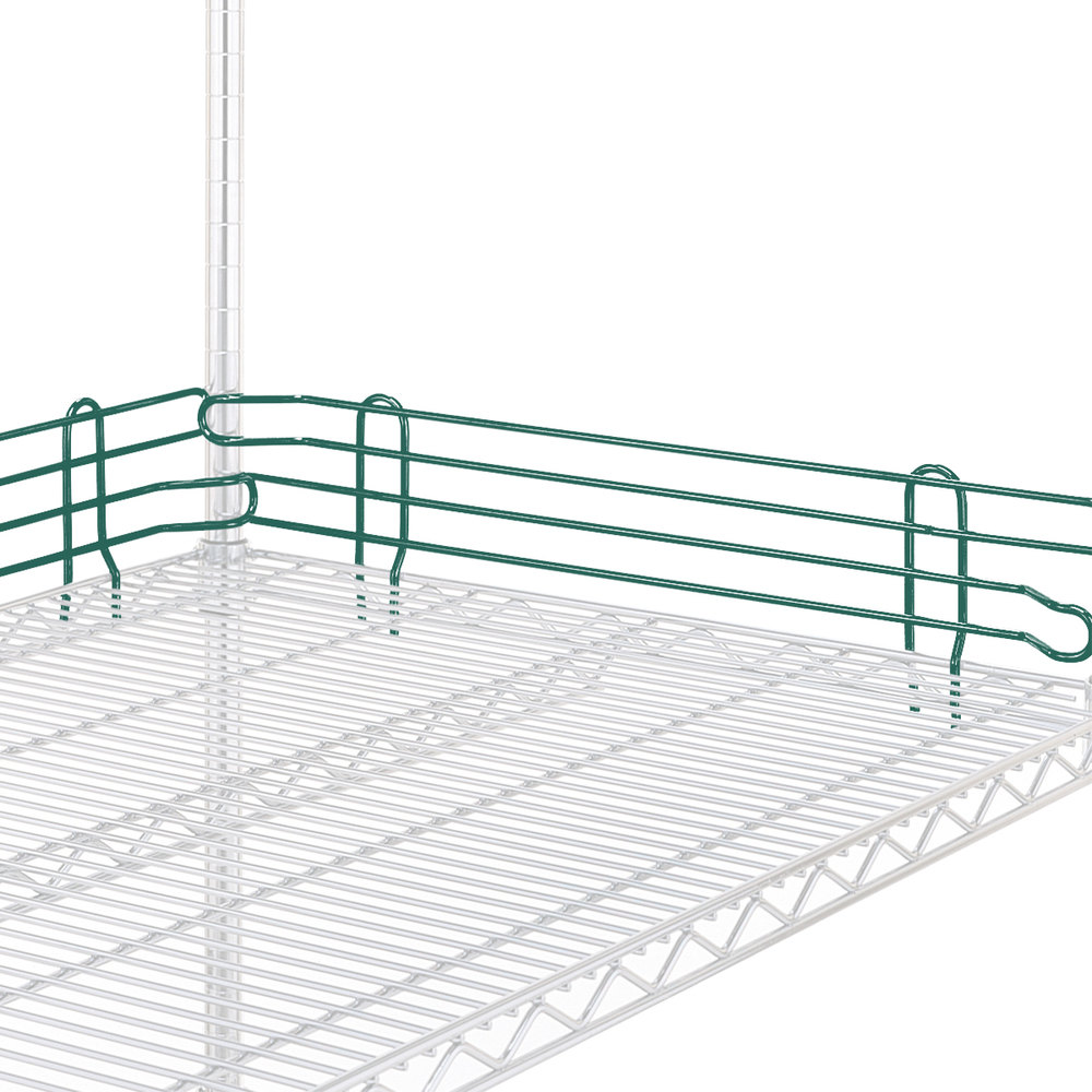 "Metro L24N-4-DHG Super Erecta Hunter Green Stackable Ledge 24"" x 4"""