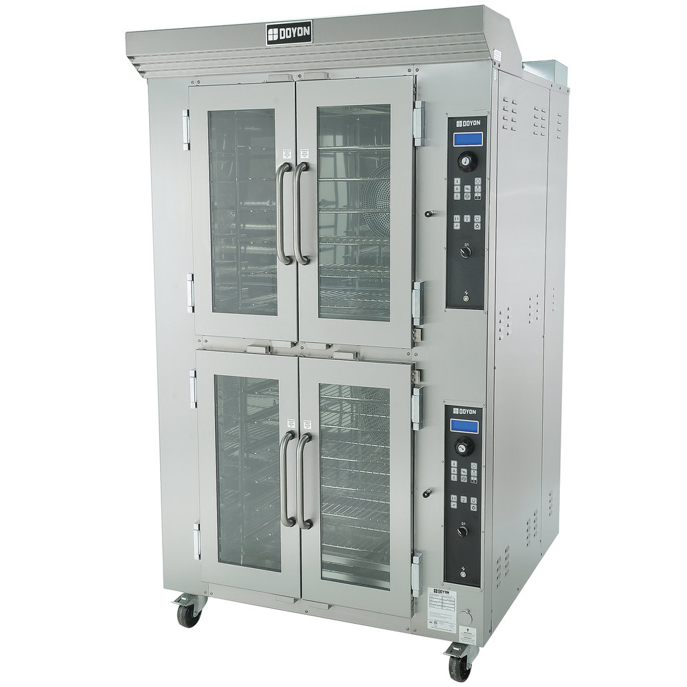 Doyon CA12G Circle Air Double Deck Gas Bakery Convection Oven with Rotating Racks - 157,000 BTU