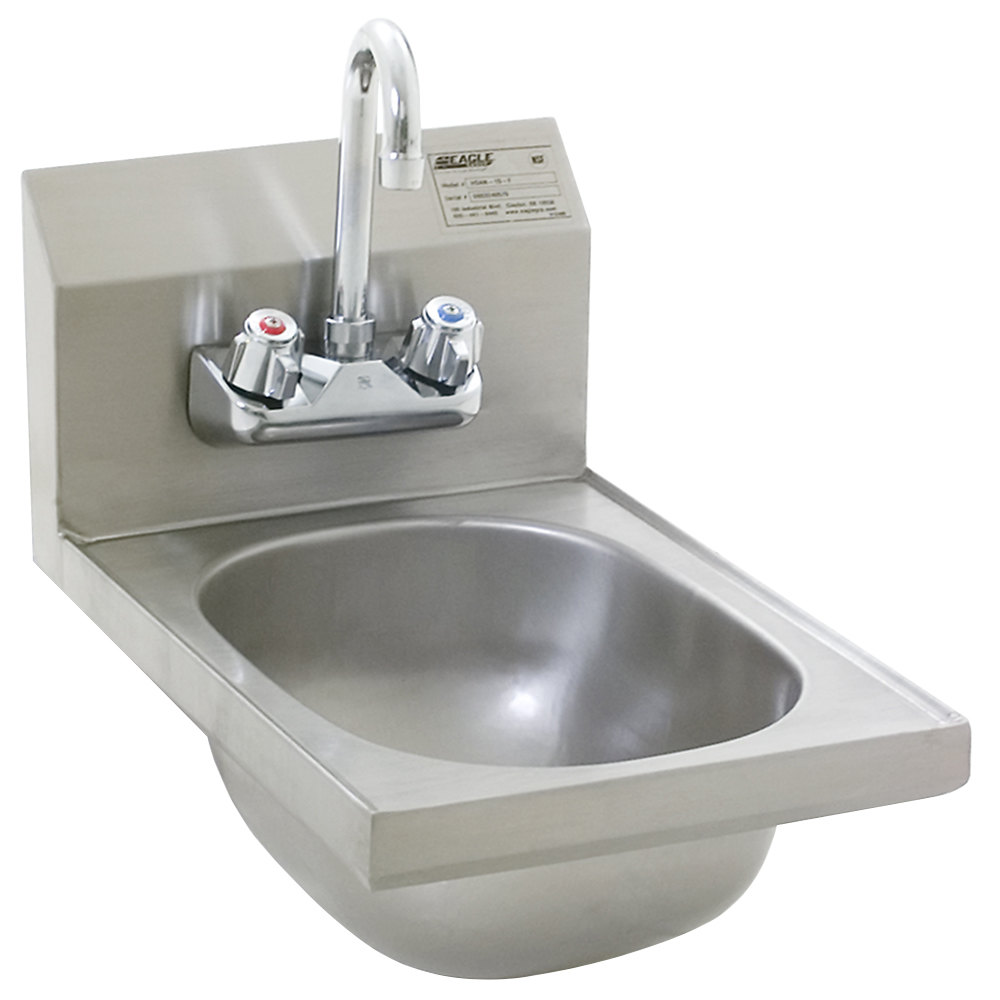 Eagle Sinks : Eagle Group HSAN-10-F Space Saver Hand Sink with Splash Mount ...