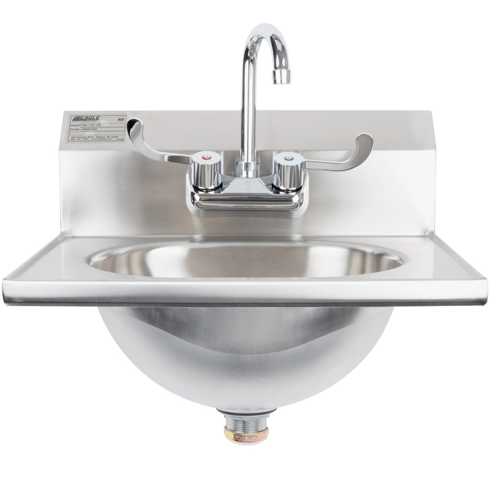 Eagle Group HSA-10-FW Hand Sink with Gooseneck Faucet, Wrist Action ...