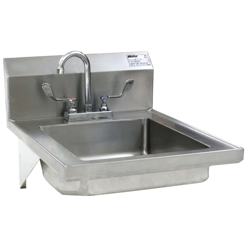 Eagle Sinks : Eagle Group HSAP-14-FW Hand Sink with Gooseneck Faucet, Wrist Action ...