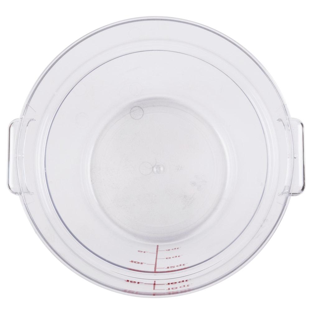 Cambro Rfscw18 Camwear 18 Qt Clear Round Food Storage