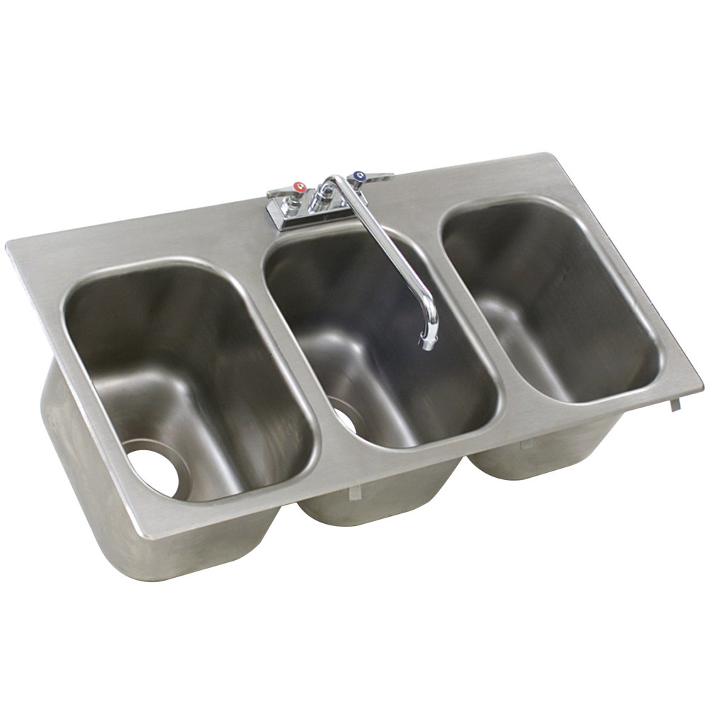 Eagle Group Sr10 14 9 5 3 Three Compartment Stainless