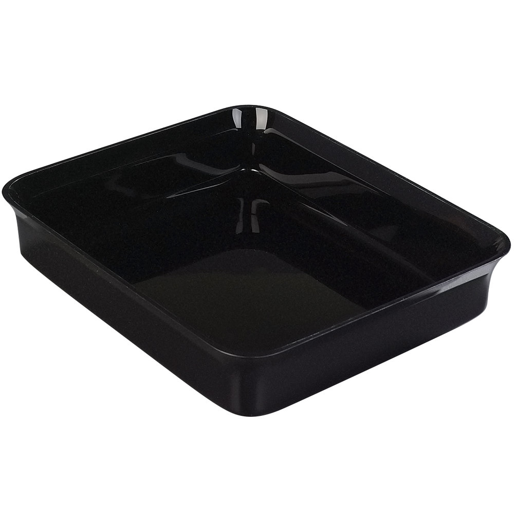 Carlisle 882103 Black 10 lb. Rectangular Deli Crock - 4/Case
