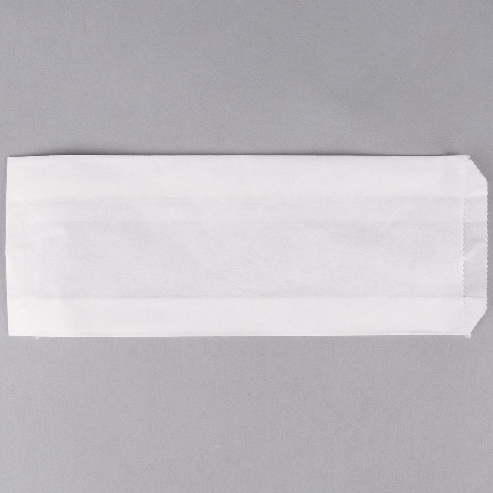 Carnival King 3 1/2 inch x 1 1/2 inch x 9 inch Plain Paper Hot Dog Bag   - 1000/Case