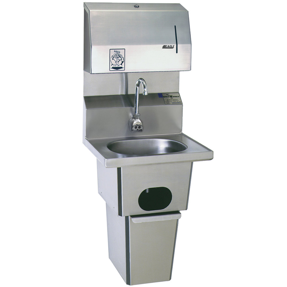Eagle Sinks : Eagle Group HSA-10-FDPEE-B-T Hand Sink with Gooseneck Faucet, Towel ...