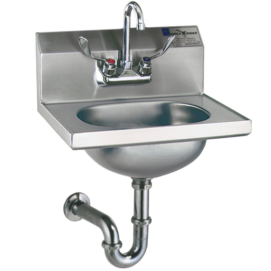 Eagle Group HSA-10-FAW-MG MicroGard Hand Sink with Gooseneck Faucet ...