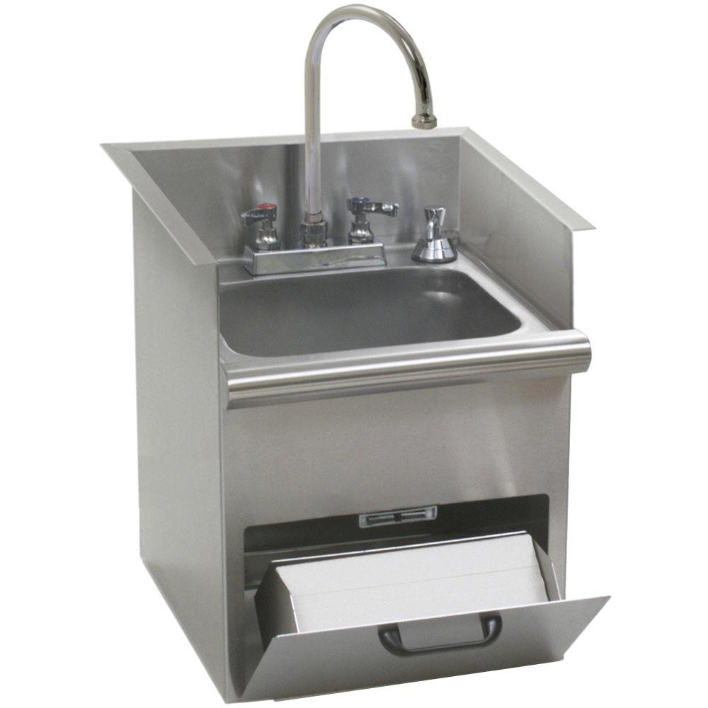 Eagle Sinks : Eagle Group HWB-E Drop In Hand Wash Sink with Encore Gooseneck Faucet ...