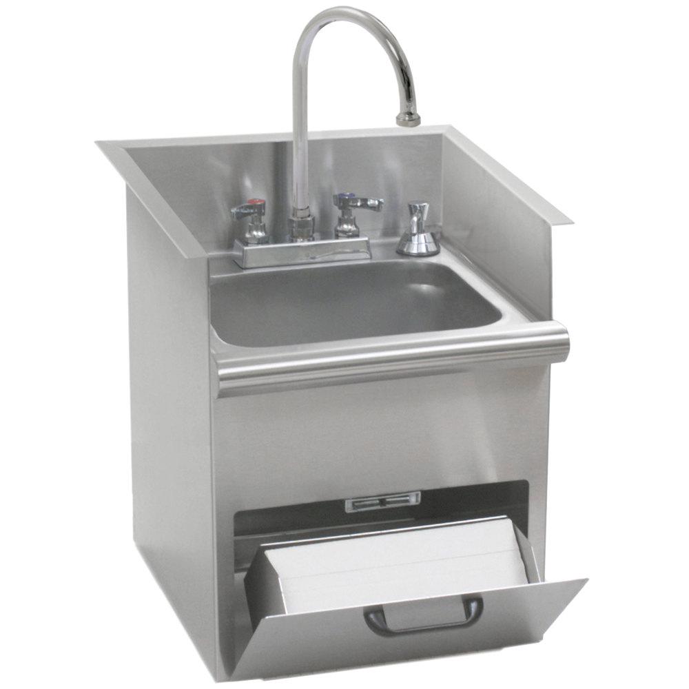 Eagle Group HWB-T Hand Wash Sink with T&S Gooseneck Faucet, Built ...