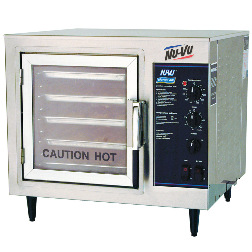 Half Size Countertop Convection Oven : ... Phase NU-VU XO-1M Half Size Electric Countertop Convection Oven - 4 kW