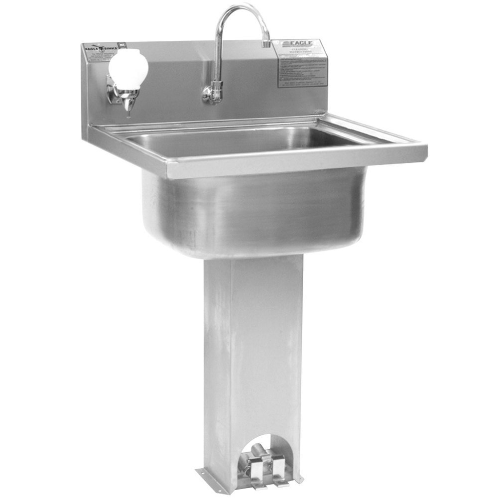 Eagle Group P1916 Stainless Steel Pedestal Hand Sink With