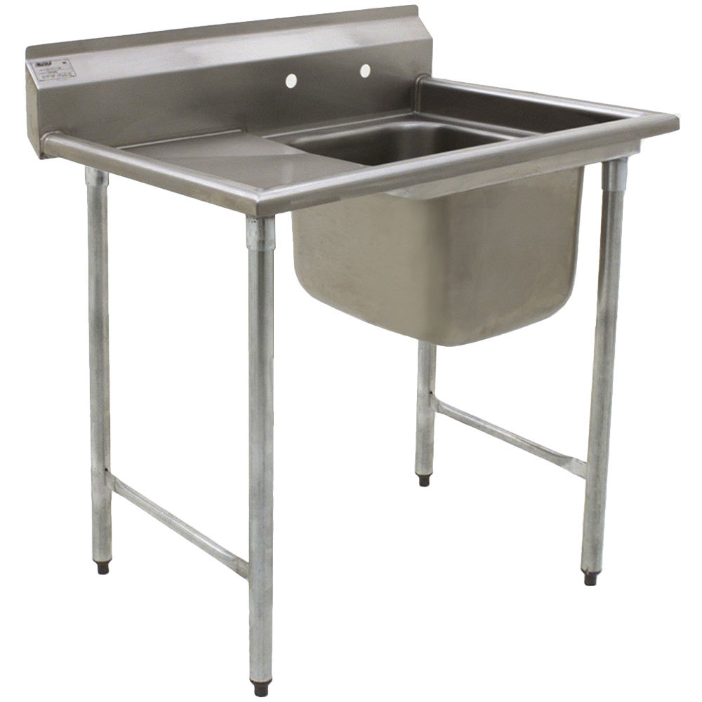 "Eagle Group 314-22-1-24 29 3/4"" x 51"" One Bowl Stainless Steel Commercial Compartment Sink with Drainboard"