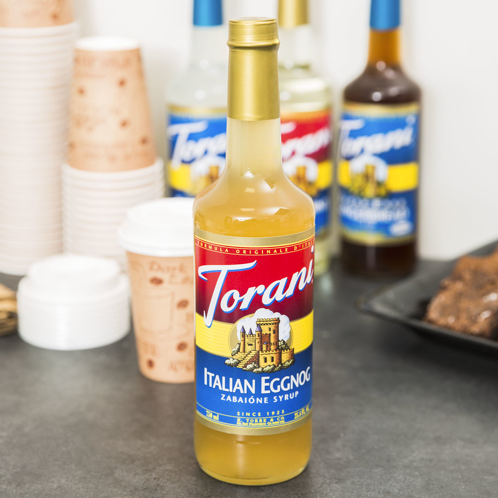 Torani 750 mL Italian Eggnog Flavoring Syrup