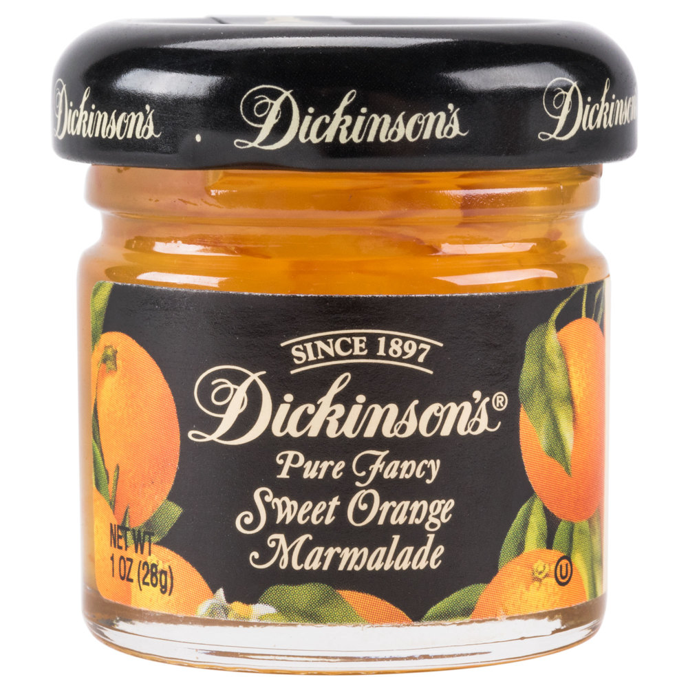 Dickinson S 1 Oz Pure Fancy Sweet Orange Marmalade 72 Case