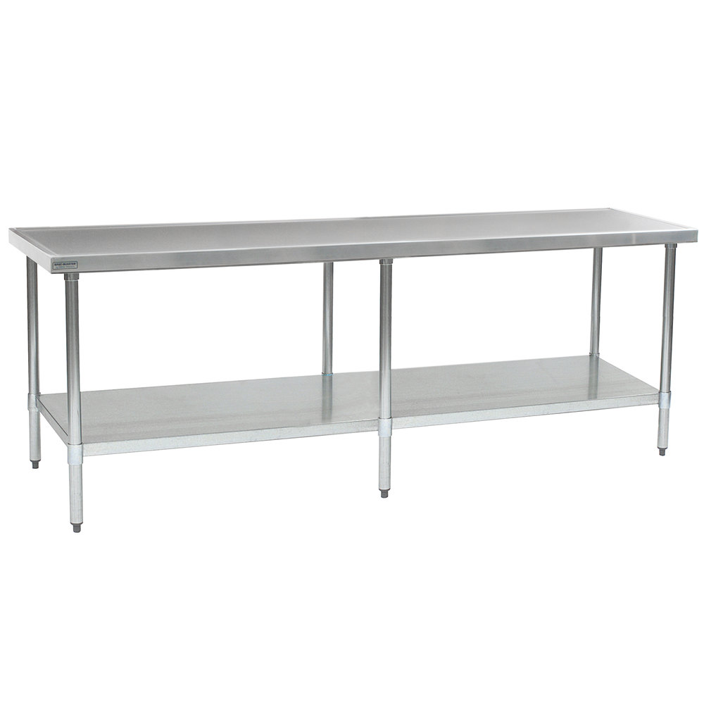 "Eagle Group T36108SEM 36"" x 108"" Stainless Steel Work Table with Undershelf"