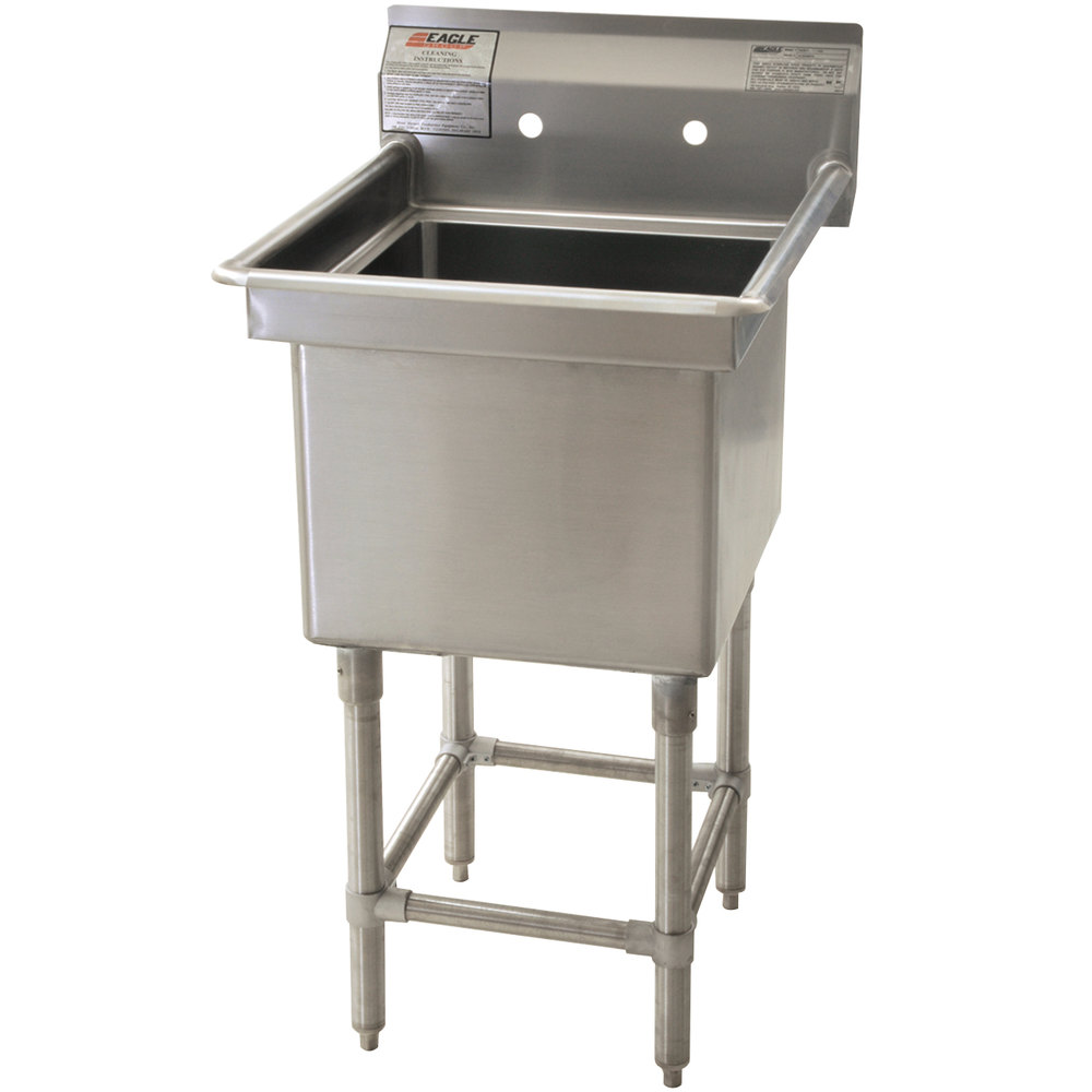 "Eagle Group FN2016-1-14/3 One 20"" x 16"" Bowl Stainless Steel Spec-Master Commercial Compartment Sink"