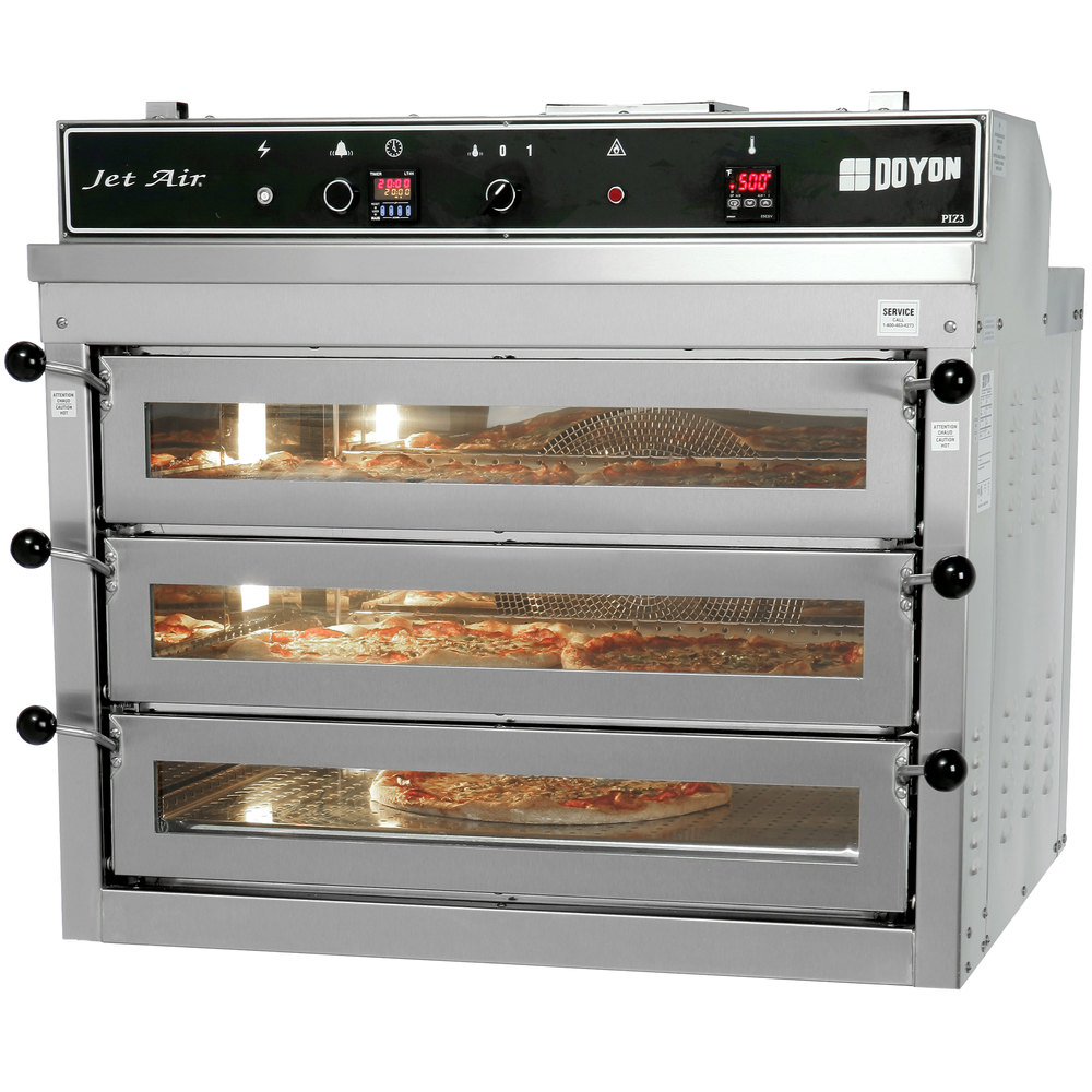 Electric Pizza Oven ~ Doyon piz triple deck electric pizza oven v phase