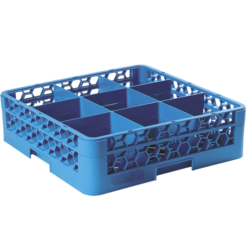 Carlisle Rg9 114 Opticlean 9 Compartment Glass Rack With 1
